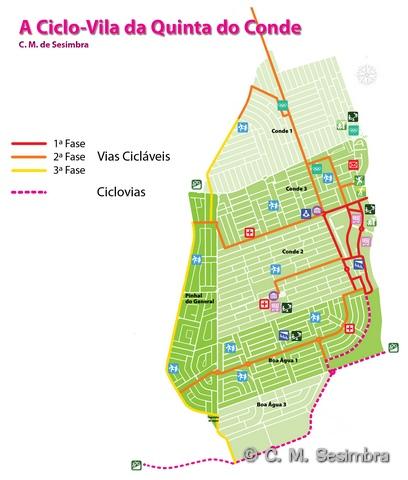 quinta do conde mapa CICLOVIA   Ciclovia da Quinta do Conde quinta do conde mapa