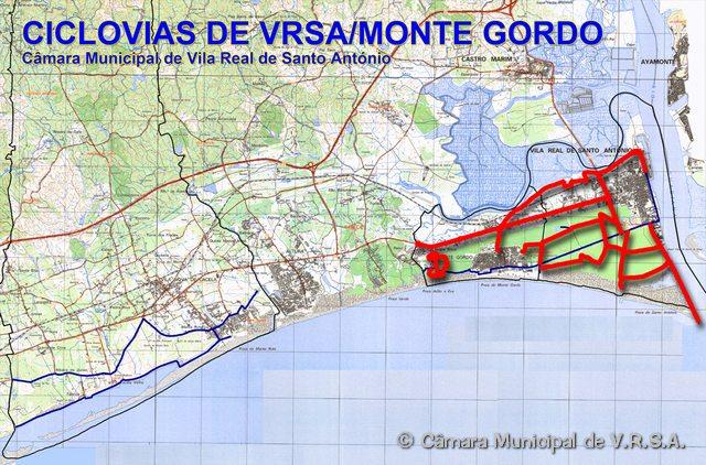 monte gordo mapa google CICLOVIA: Ciclovias de Vila Real de Santo António e Monte Gordo monte gordo mapa google